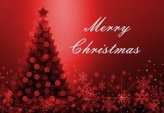 Поздравительная открытка с рождеством Стоковые Изображения