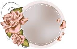Поздравительная открытка с розой пинка. Стоковая Фотография RF