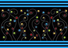 Поздравительная открытка с свирлями цветков круга Стоковая Фотография RF