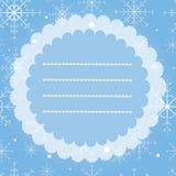 Поздравительная открытка с снежинками С Рождеством Христовым и счастливая карточка года сбора винограда Нового Года Стоковая Фотография