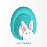Поздравительная открытка с счастливой пасхой Стоковое Изображение