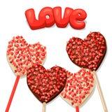 Поздравительная открытка с сладостными конфетами Концепция может быть иллюстрация штока