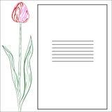 Поздравительная открытка с тюльпанами Иллюстрация вектора