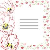 Поздравительная открытка с тюльпанами Стоковое Изображение