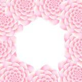 Поздравительная открытка с флористической рамкой Стоковое фото RF