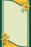 Поздравительная открытка с цветком и орнаментальной предпосылкой Стоковое Изображение RF