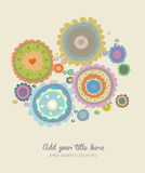 Поздравительная открытка с цветком Стоковое Фото