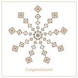 Поздравительная открытка с этнической картиной орнамента в других цветах Стоковая Фотография