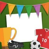 Поздравительная открытка футбола иллюстрация штока