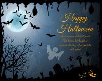 Поздравительная открытка хеллоуина Стоковое Фото