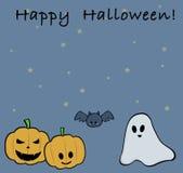 Поздравительная открытка хеллоуина Стоковое Изображение