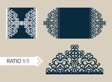 Поздравительная открытка шаблона с openwork картиной Стоковая Фотография