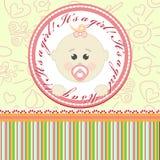 Поздравительная открытка для младенцев бесплатная иллюстрация