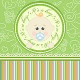 Поздравительная открытка для младенцев иллюстрация штока