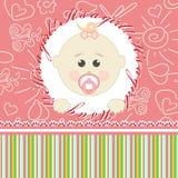 Поздравительная открытка для младенцев иллюстрация вектора