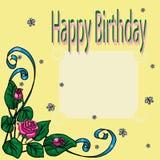 Поздравительная открытка для дня рождения иллюстрация вектора
