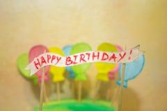 Поздравительная открытка для дня рождения Стоковое Фото