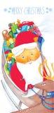 Поздравительная открытка для рождества Стоковое фото RF