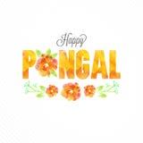 Поздравительная открытка для счастливого торжества Pongal Стоковое Изображение