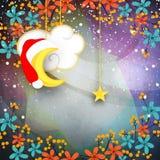 Поздравительная открытка для с Рождеством Христовым торжества Стоковые Фото