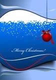 Поздравительная открытка для с Рождеством Христовым Стоковое Изображение