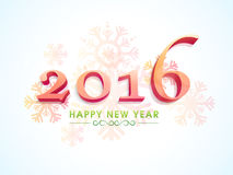 Поздравительная открытка для торжества 2016 Нового Года Стоковое Изображение