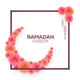 Поздравительная открытка для торжества Рамазана Kareem Стоковая Фотография RF