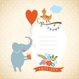Поздравительная открытка Стоковое Изображение