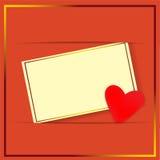 Поздравительная открытка Стоковые Фотографии RF