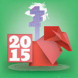 Поздравительная открытка 2015 Стоковое Изображение RF