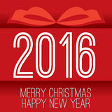 Поздравительная открытка 2016 Стоковая Фотография RF