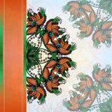 Поздравительная открытка Grunge с орхидеей Стоковое Изображение