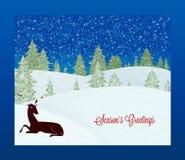 Поздравительная открытка ` s сезона Стоковое Изображение