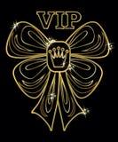Поздравительная открытка VIP золотая, вектор Стоковое Изображение RF