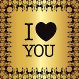 ` Поздравительной открытки я тебя люблю! ` Стоковое Изображение