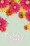Поздравительную открытку, акварель, можно использовать как карточка приглашения для wedding, день рождения и другие праздник и пр иллюстрация штока