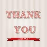 Поздравительные открытки благодарения Стоковое Изображение RF