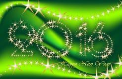 Поздравительные открытки Нового Года, открытки, чешут счастливый Новый Год 2016 Стоковое Фото