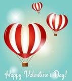 Поздравительные открытки дня валентинок. Иллюстрация вектора Стоковые Изображения
