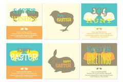 Поздравительные открытки пасхи Стоковые Фото