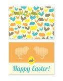 Поздравительные открытки пасхи Стоковые Фотографии RF