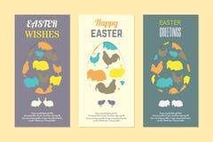 Поздравительные открытки пасхи Стоковое фото RF