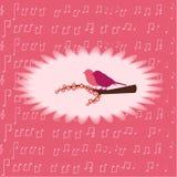Поздравление на цветках Стоковые Фотографии RF