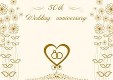 Поздравления к золотой свадьбе 50 бесплатная иллюстрация