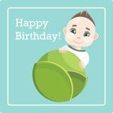 Поздравления на рождении мальчика Стоковые Изображения RF