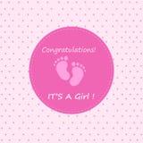 Поздравления свои девушка Стоковая Фотография RF