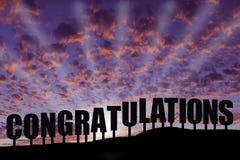 Поздравления Стоковое фото RF