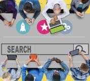 Поиск ища концепцию сети просматривать интернета Seo онлайн Стоковое Фото