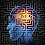 Поиск мозга иллюстрация вектора