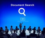 Поиск документа находя формы проверяет концепцию писем Стоковые Изображения